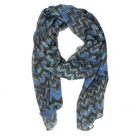 Dámska modrá šatka so vzorom