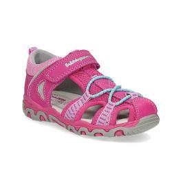 Ružové detské sandále
