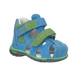 Detské modré kožené sandále
