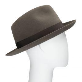Pánsky hnedý klobúk s mašľou
