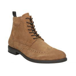 Kožená pánska členková obuv