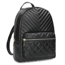 Čierny mestský prešívaný batoh