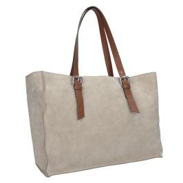 Kožená béžovo-hnedá kabelka