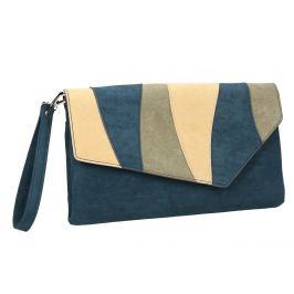 Modrá dámska listová kabelka s pútkom