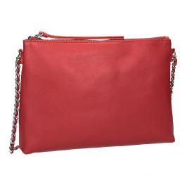 Červená Crossbody kabelka s retiazkou
