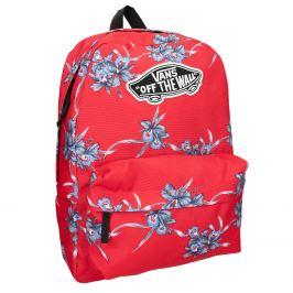 Červený batoh so vzorom
