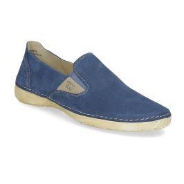 Dámske modré kožené Slip-on