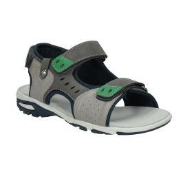Chlapčenské šedé sandále v športovom štýle