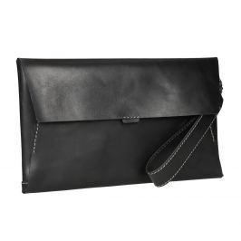 Čierna kožená listová kabelka