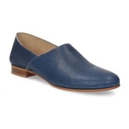 Modré dámske kožené Slip-on