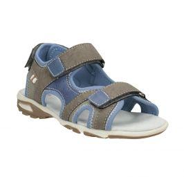 Chlapčenské šedo-modré sandále na suchý zips
