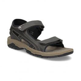 Pánske kožené sandále s prešívaním