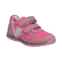Dievčenské ružové tenisky z kože