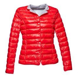 Červená prešívaná bunda