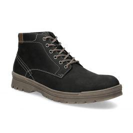 Pánska zimná kožená obuv