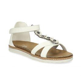 Dievčenské sandále s kvetinovou aplikáciou