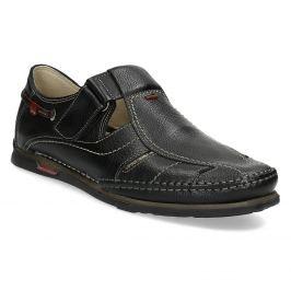 Kožené sandále s prešívaním