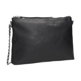 Čierna kožená Crossbody kabelka