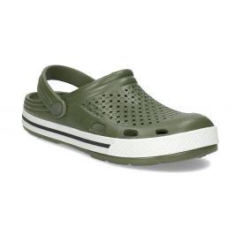 Pánske sandále typu Clogs khaki