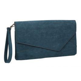 Dámska modrá listová kabelka s pútkom