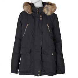 Dámska bunda s kožúškom
