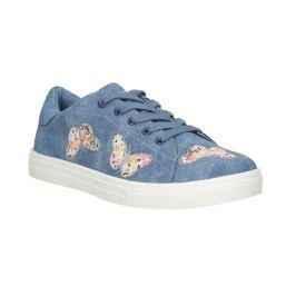 Modré dievčenské tenisky s motýlikmi