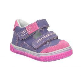 Detské kožené topánky na suchý zips