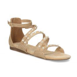 Dievčenské sandále s perličkami