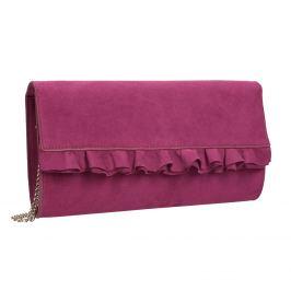 Ružová listová kabelka s volánmi