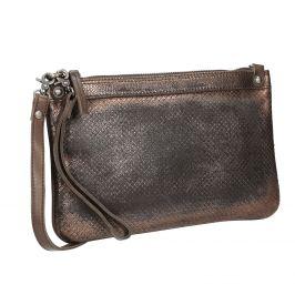 Dámska kožená metalická listová kabelka