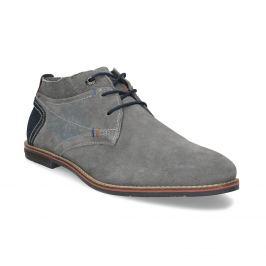 Chukka boots z brúsenej šedej kože
