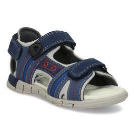 Modré detské kožené sandále