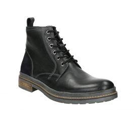 Kožená zimná členková obuv