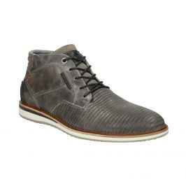 Kožená členková obuv šedá