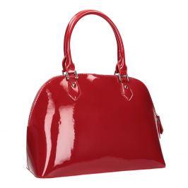 Červená lakovaná kabelka