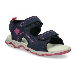 Detské sandále z brúsenej kože