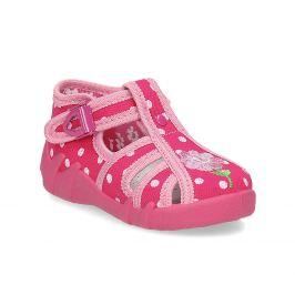 Dievčenské ružové papuče