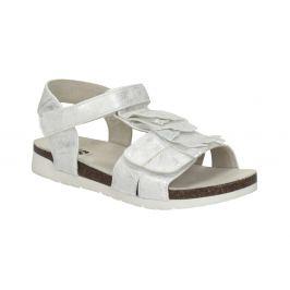 Strieborné dievčenské sandále