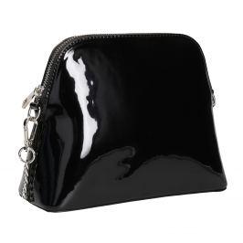 Lakovaná čierna kabelka