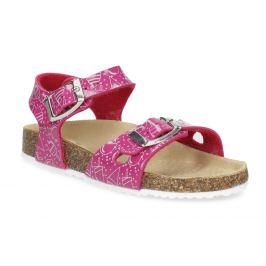 Dievčenské ružové korkové sandále