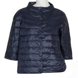 Prešívaný kabát s trojštvrťovým rukávom