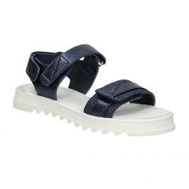 Modré sandále so štruktúrovanou podrážkou