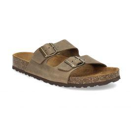 Kožené pánske sandále s korkovou podrážkou