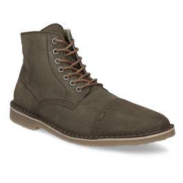 Členková obuv z brúsenej kože