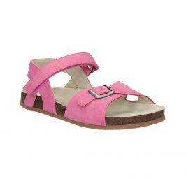 Ružové dievčenské sandále