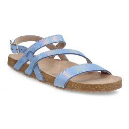 Dievčenské sandále s holografickými remienkami