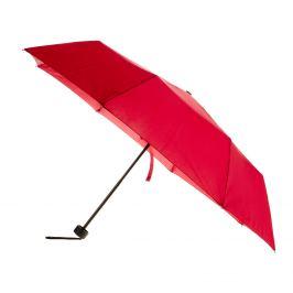Červený skladací dáždnik
