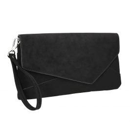 Čierna asymetrická listová kabelka