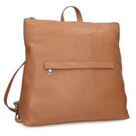Mestský hnedý kožený batoh