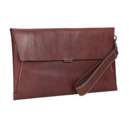 Kožená listová kabelka s prešitím